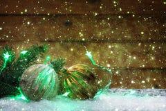 Cartão do Natal, decoração com tre do Natal Imagem de Stock
