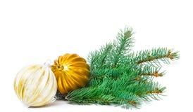 Cartão do Natal, decoração com tre do Natal Foto de Stock Royalty Free