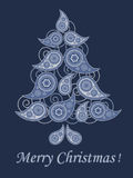 Cartão do Natal do estilo de Paisley Imagem de Stock
