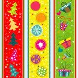 Cartão do Natal do molde, fita, vetor Imagem de Stock Royalty Free