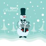 Cartão do Natal do molde, vetor Fotografia de Stock Royalty Free