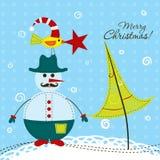 Cartão do Natal do molde, vetor Foto de Stock
