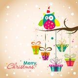 Cartão do Natal do molde, vetor Imagem de Stock Royalty Free