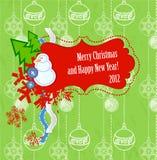 Cartão do Natal do scrapbook do vetor e do ano novo Foto de Stock Royalty Free