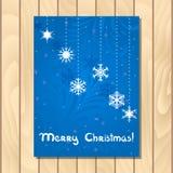 Cartão do Natal do vetor Fotografia de Stock Royalty Free