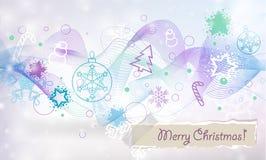 Cartão do Natal do vetor e do ano novo Imagens de Stock Royalty Free