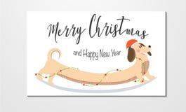 Cartão do Natal e do ano novo ilustração do vetor