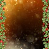 Cartão do Natal e do ano novo com bagas Vetor do EPS 10 Fotos de Stock