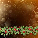 Cartão do Natal e do ano novo com bagas Vetor do EPS 10 Foto de Stock Royalty Free