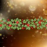 Cartão do Natal e do ano novo com bagas Vetor do EPS 10 Imagem de Stock