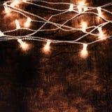 Cartão do Natal e do ano novo - fundo de madeira com Natal Fotos de Stock Royalty Free