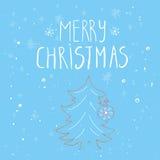 Cartão do Natal feito no vetor Fotos de Stock Royalty Free