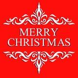 Cartão do Natal. Feliz Natal e rotulação 2014, ilustração do ano novo feliz. Imagens de Stock