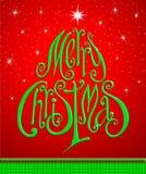 Cartão do Natal. Feliz Natal que rotula como o christma Imagem de Stock