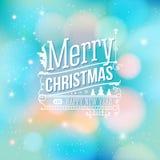 Cartão do Natal. Feliz Natal que rotula no st do vintage ilustração royalty free