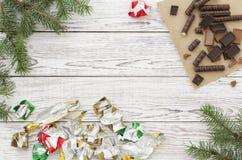 Cartão do Natal ou do ano novo Fotografia de Stock Royalty Free