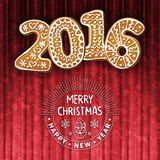 Cartão do Natal ou do ano novo ilustração royalty free