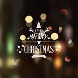 Cartão do Natal - rotulação dos feriados Fotos de Stock Royalty Free