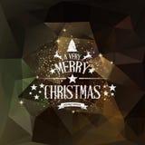 Cartão do Natal - rotulação dos feriados Foto de Stock Royalty Free