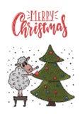 Cartão do Natal do vetor Imagens de Stock