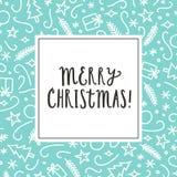 Cartão do Natal do vetor Foto de Stock