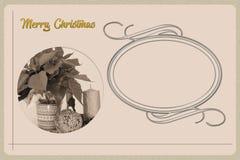 Cartão do Natal do vintage Imagens de Stock Royalty Free