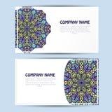 Cartão do negócio e do convite com ornamento do laço Fundo do vetor ilustração stock