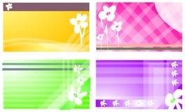 Cartão do negócio ou de visita com teste padrão floral Imagens de Stock Royalty Free