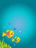Cartão do oceano ilustração royalty free