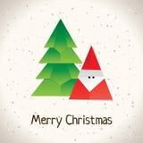 Cartão do origami do Natal Imagem de Stock Royalty Free