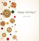 Cartão do ornamento do Natal Imagem de Stock