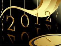 Cartão do ouro 2012 Imagens de Stock Royalty Free
