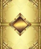 Cartão do ouro ilustração royalty free