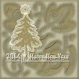 cartão do ouro do ano novo feliz Imagens de Stock Royalty Free
