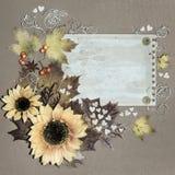 Cartão do outono Fotografia de Stock