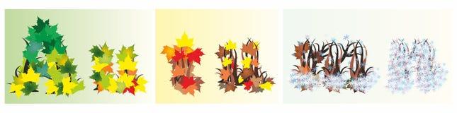Cartão do outono Fotos de Stock