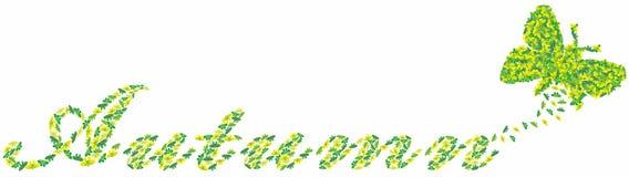 Cartão do outono com borboletas imagem de stock royalty free