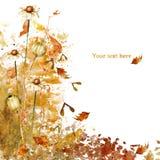 Cartão do outono da aquarela Imagem de Stock Royalty Free