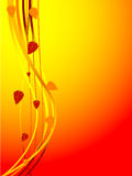 Cartão do outono - vetor Fotografia de Stock