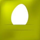 Cartão do ovo da páscoa do papel verde. + EPS8 Fotografia de Stock Royalty Free