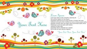 Cartão do pássaro Imagens de Stock