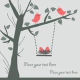 Cartão do pássaro do vetor Fotografia de Stock Royalty Free