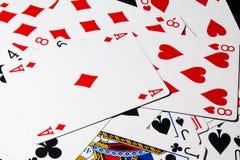 Cartão do póquer Imagem de Stock