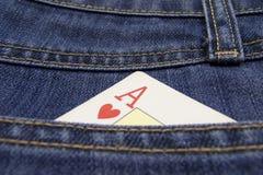Cartão do pôquer. Bolso Fotografia de Stock Royalty Free