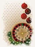 Cartão do pôquer do Feliz Natal Imagem de Stock Royalty Free