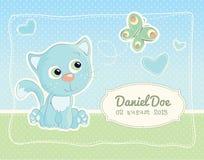 Cartão do padrão do anúncio do nascimento do bebê Imagem de Stock