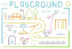 Cartão do parque da cidade Imagens de Stock