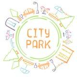 Cartão do parque da cidade Fotografia de Stock Royalty Free
