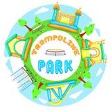 Cartão do parque do trampolim Imagens de Stock