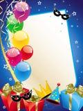 Cartão do partido Imagem de Stock